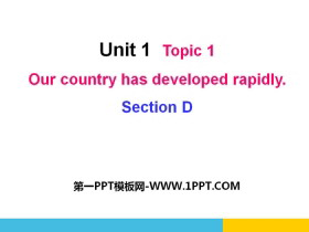 《Our country has developed rapidly》SectionD PPT