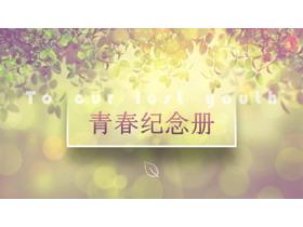 光影斑驳的《青春纪念册》PPT中国嘻哈tt娱乐平台
