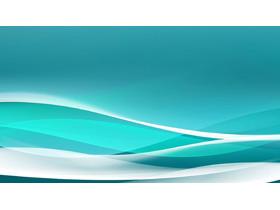 抽象蓝色线条PPT背景图片