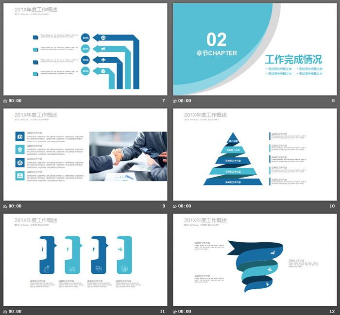 房地产行业年度工作总结PPT模板