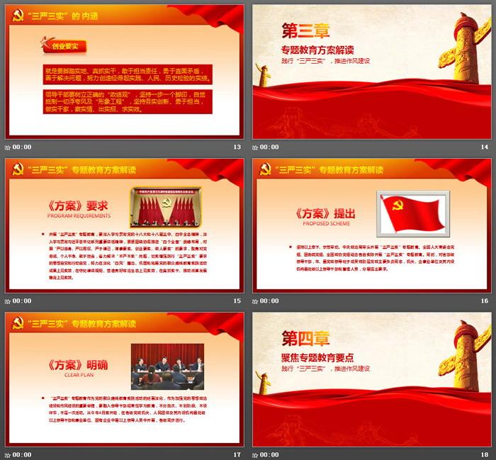《践行三严三实》党建学习PPT模板