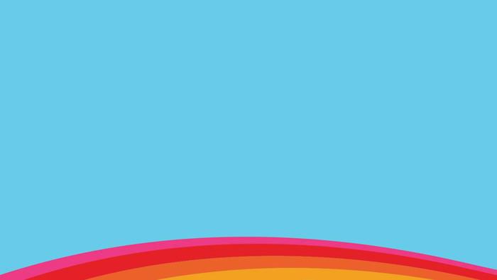 两张可爱卡通彩虹ppt背景图片