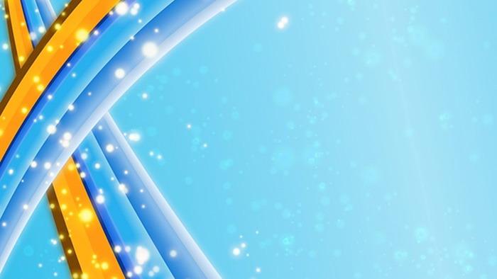 蓝色炫酷彩带光斑PPT背景图片