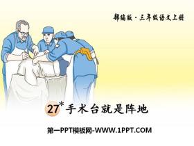 《手术台就是阵地》PPT下载
