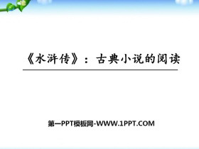 《水浒传》古典小说的阅读PPT