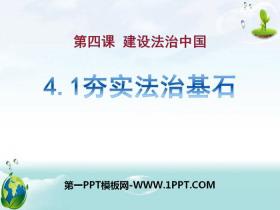 《夯实法治基石》建设法治中国PPT