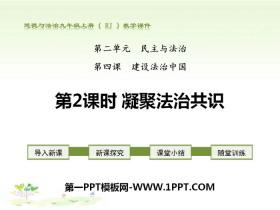 《凝聚法治共识》建设法治中国PPT课件