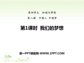 《我们的梦想》中国人中国梦PPT课件