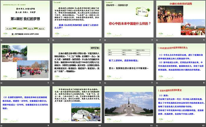 《我们的梦想》中国人中国梦PPT