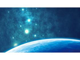 唯美星空科技PPT背景图片