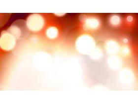 橙色梦幻光斑PPT背景图片