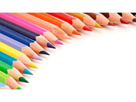 彩色铅笔PPT背景图片免费下载