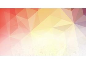 橙色低平面多边形PPT背景图片