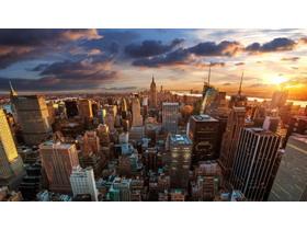 发达城市PPT背景图片
