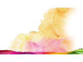淡雅彩色水彩艺术渲染必发88背景图片