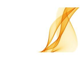 橙色抽象烟雾PPT背景图片