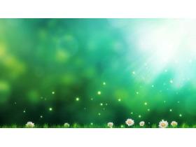 绿色唯美梦幻PPT背景图片