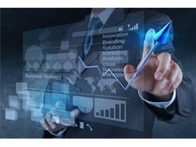 商务人物数据图表幻灯片背景图片