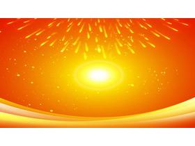 橙色炫酷烟花PPT背景图片