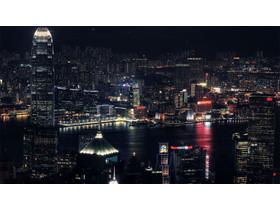 城市夜景PPT背景图片