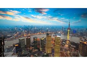 上海东方明珠PPT背景图片