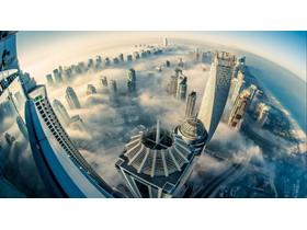 迪拜城市建筑PPT背景图片
