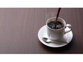 小资咖啡杯PPT背景图片