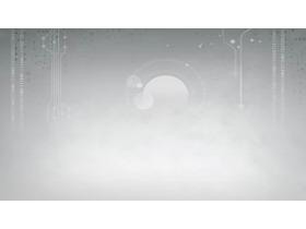 灰色科技PPT背景图片