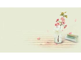 四张唯美清新花卉PPT背景图片