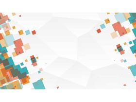 彩色方块阵列PPT背景图片