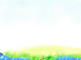 ���淡雅彩色卡通PPT背景�D片