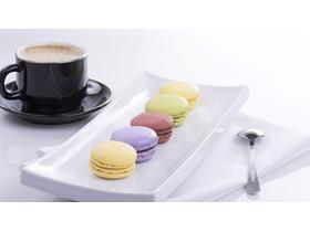 甜点咖啡PPT背景图片