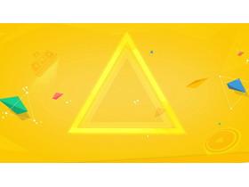 黄色三角形PPT背景图片