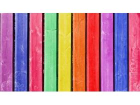 彩色木板幻灯片背景图片