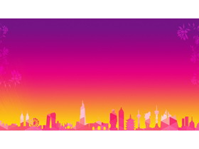 四��紫色�u�PPT背景�D片
