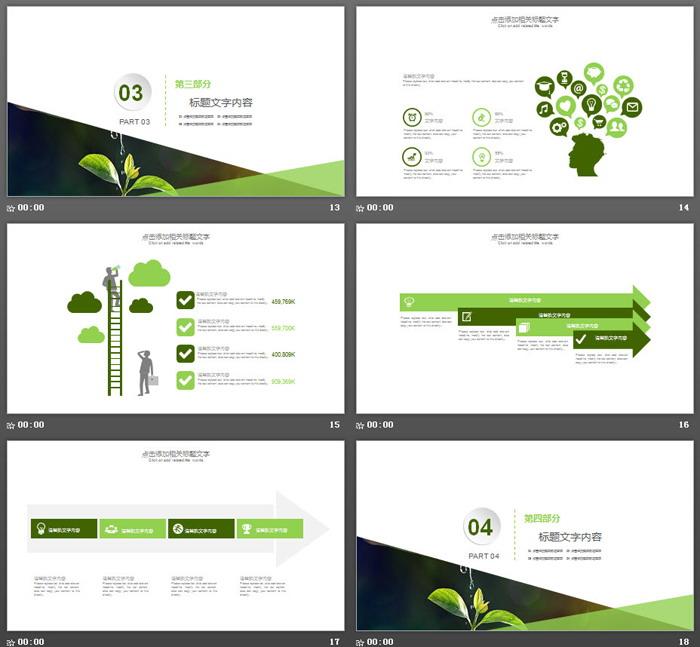 环保新能源PPT模板