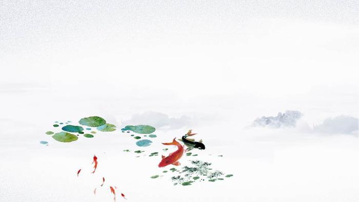 七张水墨中国风PPT背景图片