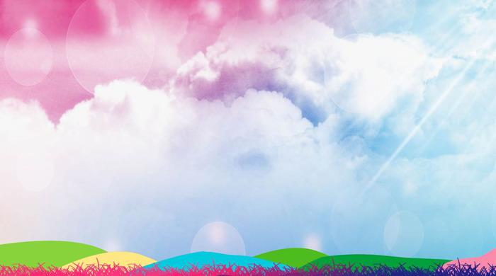 这是一套五彩云朵唯美幻灯片背景图片;-五彩云朵唯美幻灯片背景图片