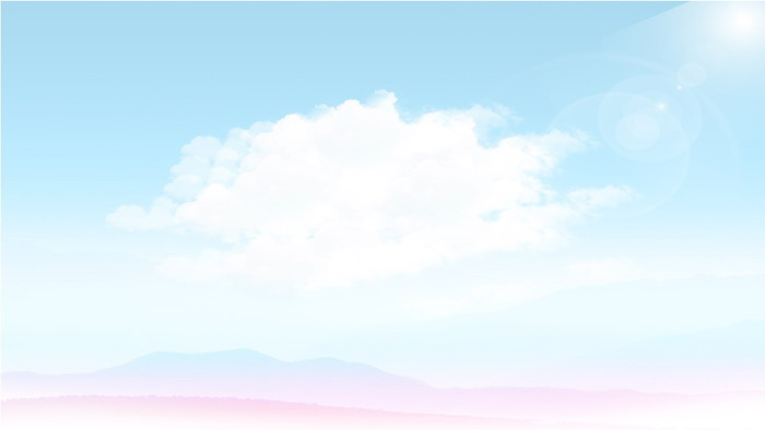 蓝天白云彩色城市剪影ppt背景图片图片