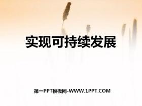 《实现可持续发展》PPT
