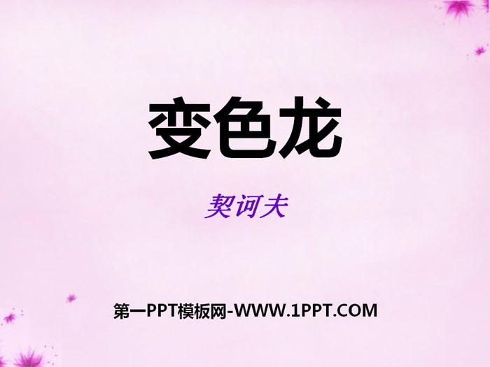 《变色龙》PPT教学课件