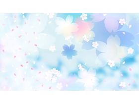 唯美花瓣PPT背景图片