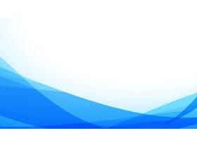 蓝色简洁线条PPT背景图片