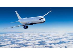 飞机机翼PPT背景图片