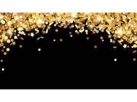 金色星光PPT背景图片