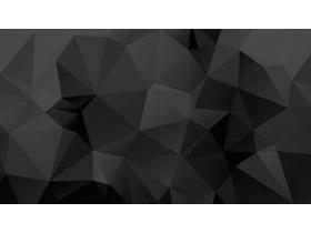 黑色多边形幻灯片背景图片