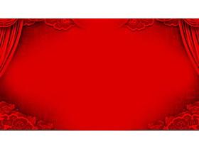 红色帷幕PPT背景图片