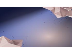 蓝色立体多边形PPT背景图片