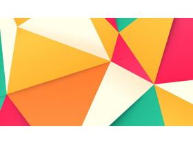 彩色多边形拼接PPT背景图片