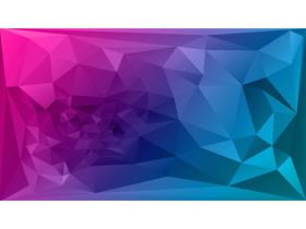 蓝紫渐变多边形PPT背景图片